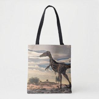 Dinossauro do Velociraptor - 3D rendem Bolsas Tote