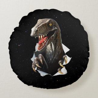 Dinossauro do Velociraptor no travesseiro redondo Almofada Redonda