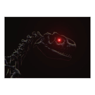 Dinossauro do vivo impressão de foto