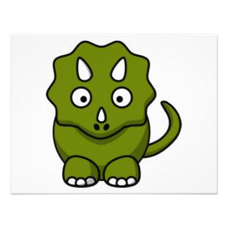 Dinossauro dos desenhos animados convites personalizado