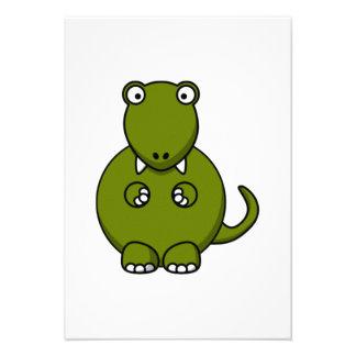 Dinossauro dos desenhos animados convite