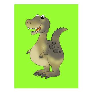 Dinossauro engraçado cartao postal