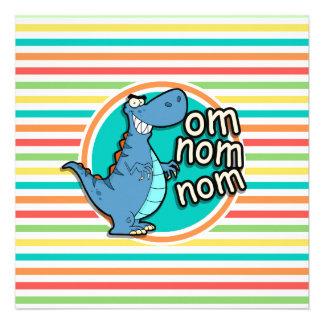 Dinossauro engraçado Listras brilhantes do Convite