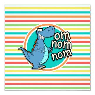 Dinossauro engraçado; Listras brilhantes do Convite