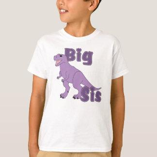 Dinossauro grande do roxo do Sis Tshirt