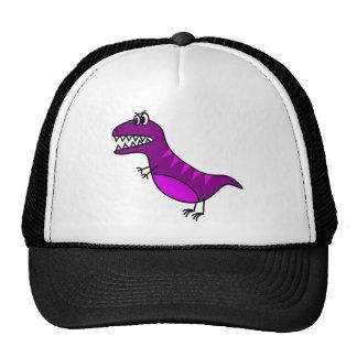 Dinossauro irritado roxo bonito dos desenhos boné