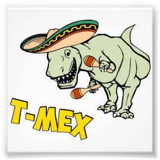 Dinossauro mexicano do tiranossauro de T-Mex T-Rex Impressão De Foto