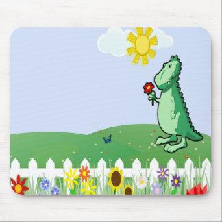 Dinossauro Mousepad dos desenhos animados,