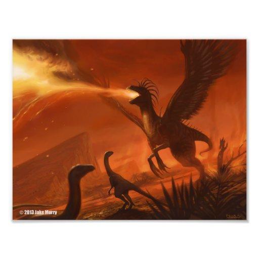 Dinossauro pré-histórico deRespiração por Jake Mur Impressão De Foto
