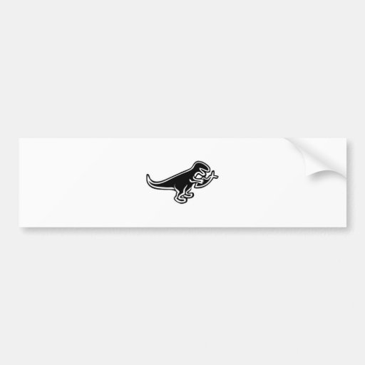Dinossauro que come peixes de Jesus Adesivo