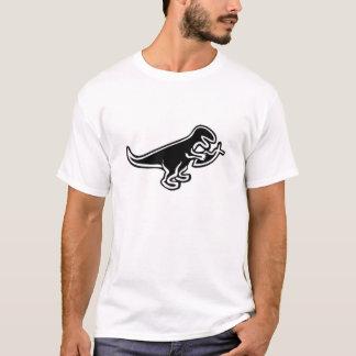 Dinossauro que come peixes de Jesus Camiseta