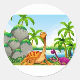 Dinossauro que vive na selva adesivo