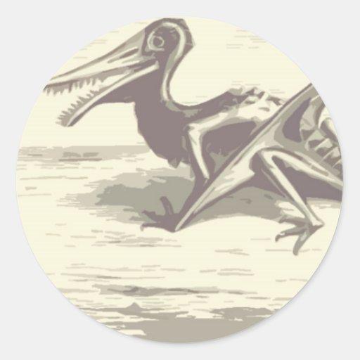 Dinossauro: Rhamphorhynchus Adesivos Redondos