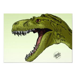 Dinossauro rujir T-Rex por Geraldo Borges Convite Personalizado
