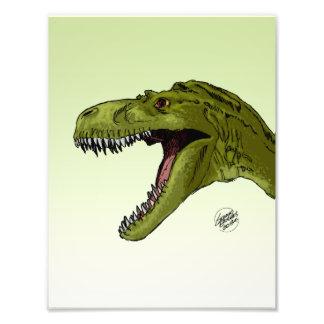 Dinossauro rujir T-Rex por Geraldo Borges Impressão De Foto