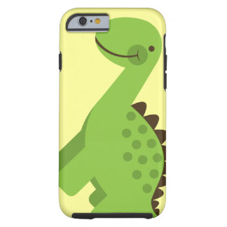 Dinossauro verde bonito capa tough para iPhone 6