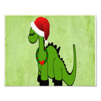 Dinossauro verde do feriado impressão de foto
