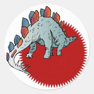 Dinossauro vermelho adesivo