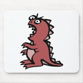 Dinossauro vermelho bonito & irritado mousepads