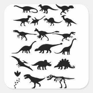 Dinossauros Adesivo Quadrado