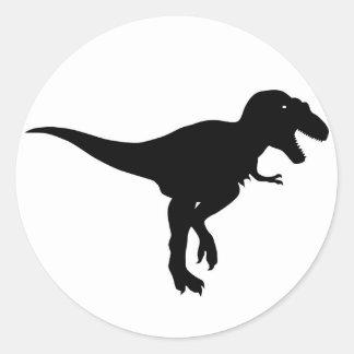 dinossauros adesivo redondo