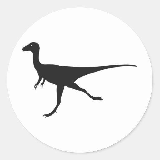dinossauros adesivos redondos