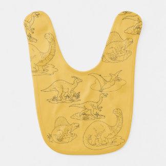 dinossauros babador de bebe