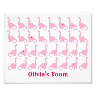 Dinossauros cor-de-rosa impressão de foto