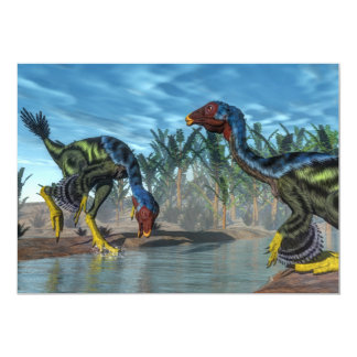 Dinossauros de Caudipteryx - 3D rendem Convite 12.7 X 17.78cm