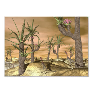 Dinossauros de Compsognathus - 3D rendem Convite 12.7 X 17.78cm