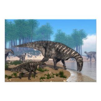 Dinossauros de Iguanodon Impressão De Foto