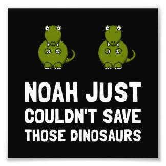 Dinossauros de Noah Impressão De Foto