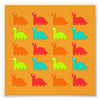 Dinossauros de passeio do teste padrão bonito de impressão de foto