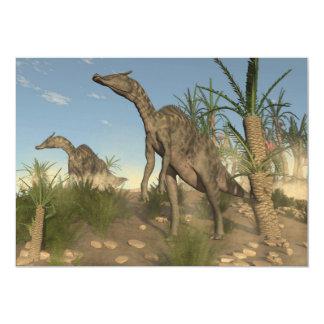 Dinossauros de Saurolophus - 3D rendem Convite 12.7 X 17.78cm