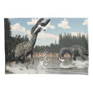 Dinossauros de Suchomimus que pescam peixes e