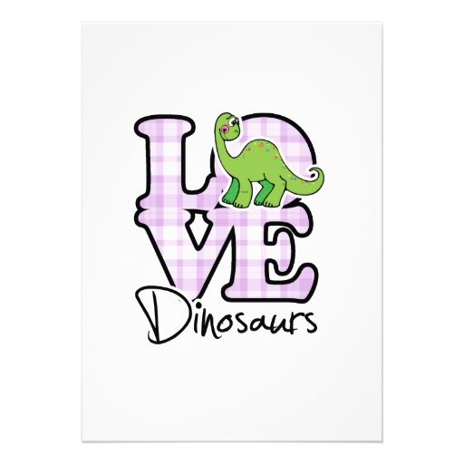 Dinossauros do amor convites personalizados