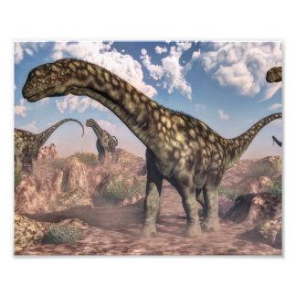 Dinossauros do Argentinosaurus Impressão De Foto