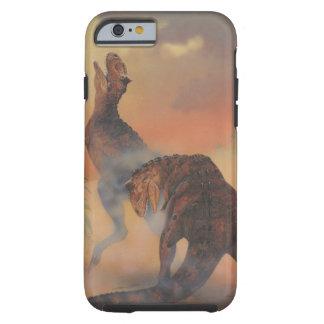 Dinossauros do Carnotaurus do vintage que rujem na Capa Tough Para iPhone 6
