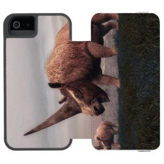 Dinossauros do mamífero de Elasmotherium - 3D Capa Carteira Incipio Watson™ Para iPhone 5