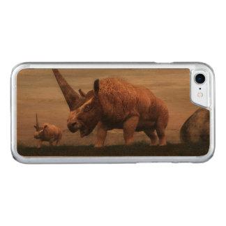 Dinossauros do mamífero de Elasmotherium - 3D Capa iPhone 7 Carved