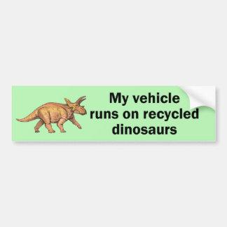 Dinossauros do reciclado adesivo para carro