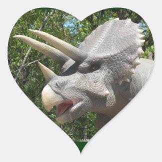 Dinossauros do Triceratops Adesivos Em Forma De Corações