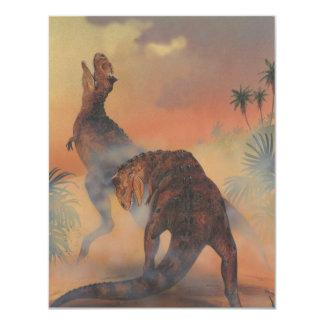 Dinossauros do vintage, convite de aniversário da
