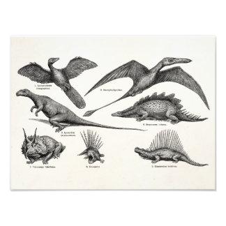 Dinossauros retros da ilustração do dinossauro do  foto artes