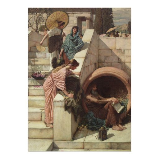 Diogenes por John William Waterhouse Convite