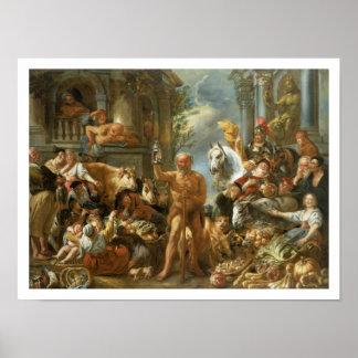 Diogenes que procurara por um homem honesto, c.165 poster