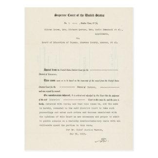 Direcção de Educação de Brown v. do caso em Cartão Postal