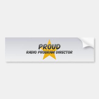 Director de programa de rádio orgulhoso adesivos