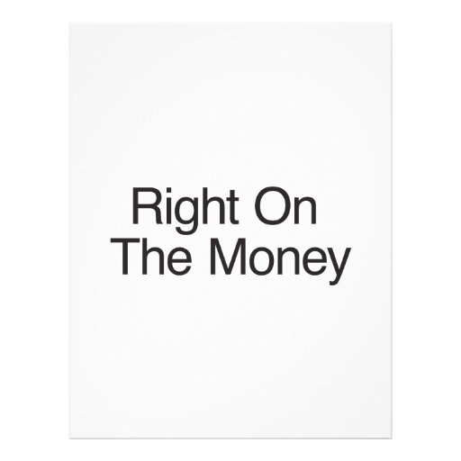 Direito no dinheiro panfletos personalizado
