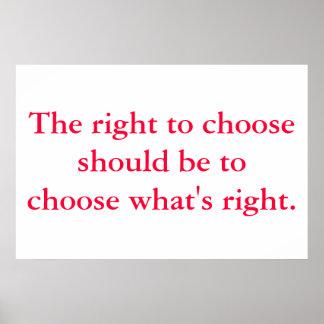 Direito para escolher posters